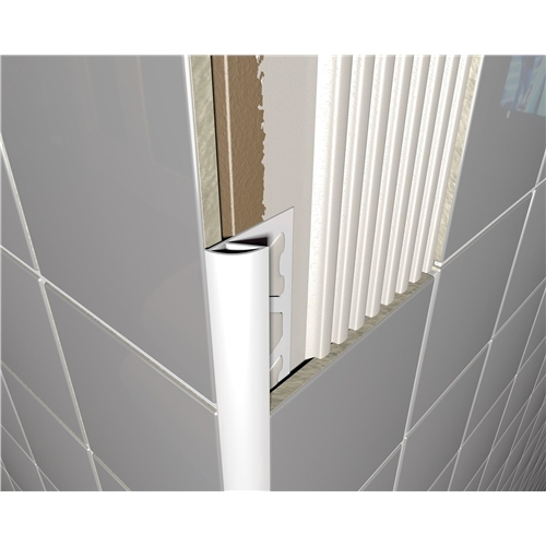Pvc Round Edge Tile Trim White