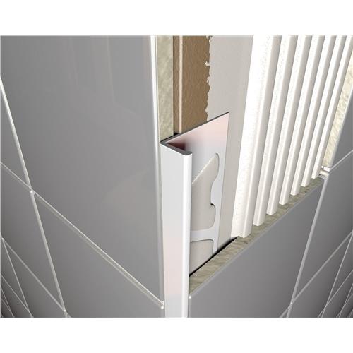 PVC Square Edged Tile Trim White