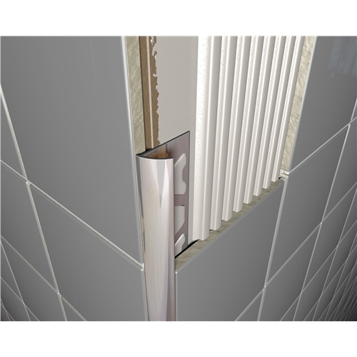 Bright Chrome Round Edge Tile Trim