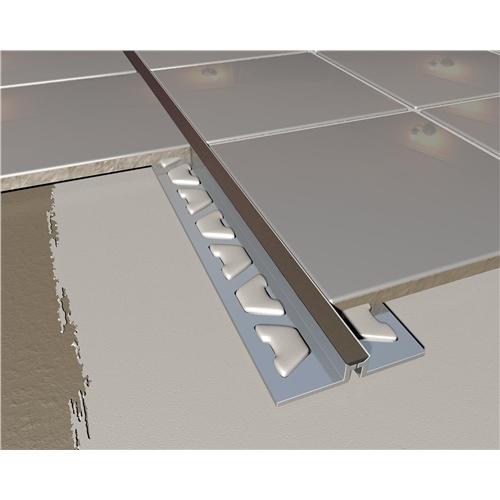 Black Insert Stainless Steel Tile Expansion Joint