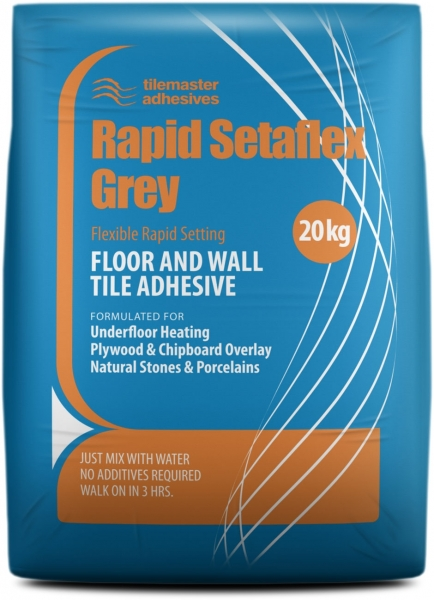 Grey Flexible Rapid Setting Tile Adhesive