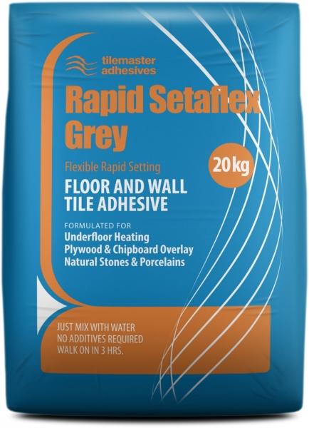 Grey Flexible Rapid Setting Flexible Tile Adhesive
