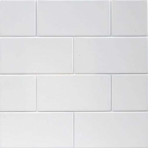 Matt White Flat Subway Tiles