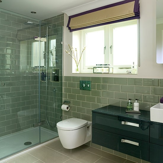Classic Bevelled Sage Subway Tiles 10x20