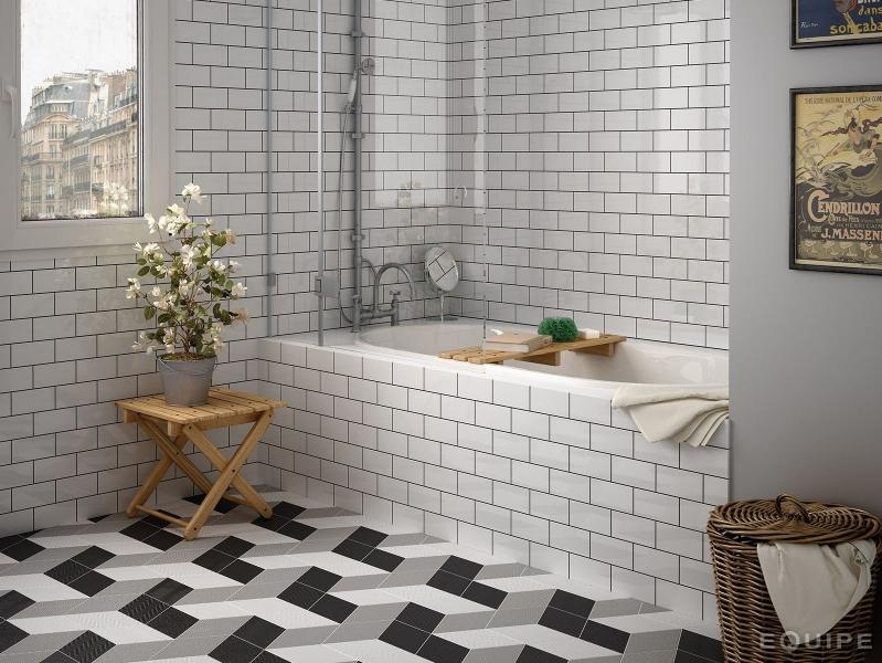 Flat White Metro Tiles 7.5x15