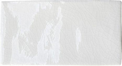 Crackle Glaze White Metro Tiles 7.5x15