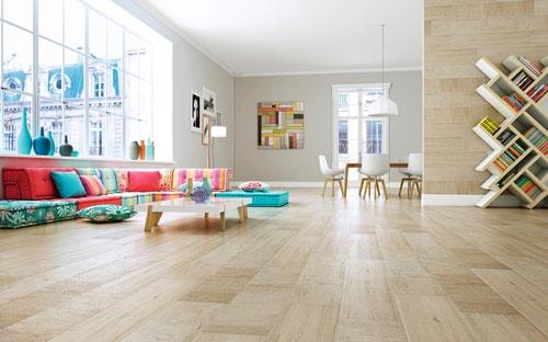 Light Colored wood Effect Porcelain Floor Tiles 23x120