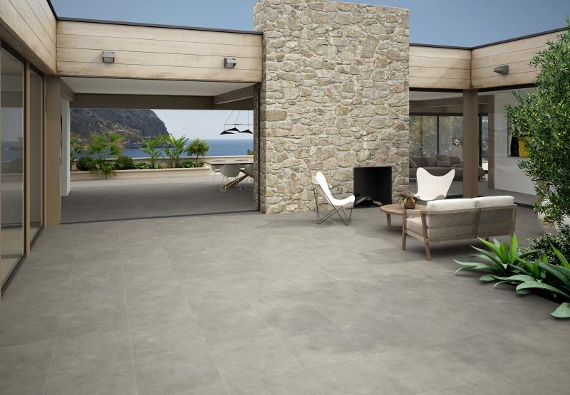 Outdoor Grey Porcelain Tile 60x60 Ieland Exterior