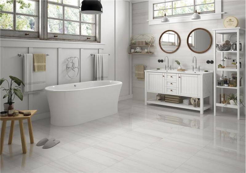 Thassos white Marble Porcelain Tiles 60x30