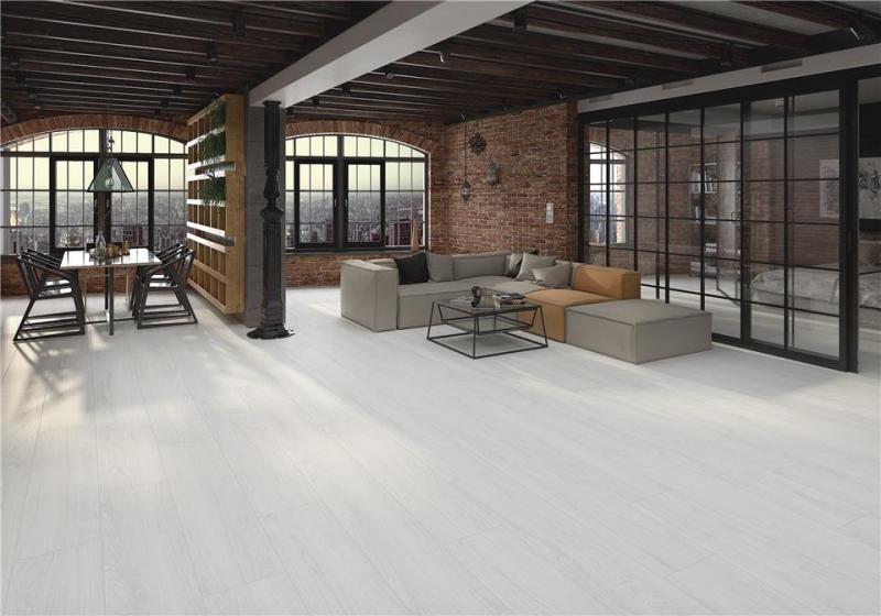 White Wood Effect Floor Tile
