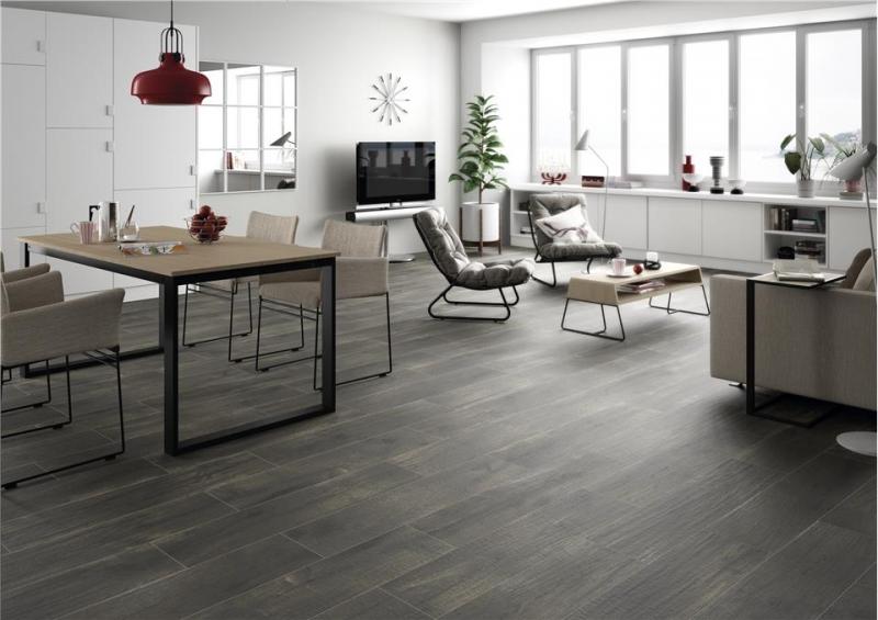 Dark Wood Effect Tiles