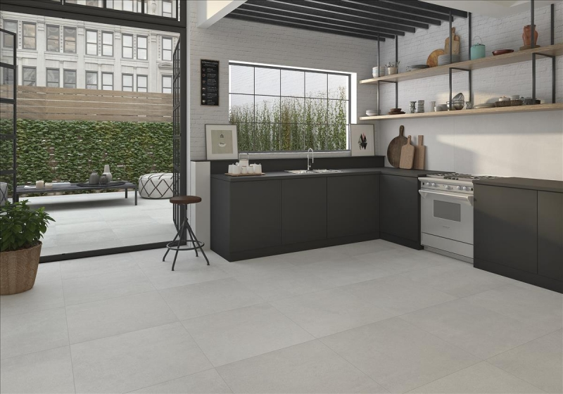 Large Format Grey Porcelain Tiles 100x100
