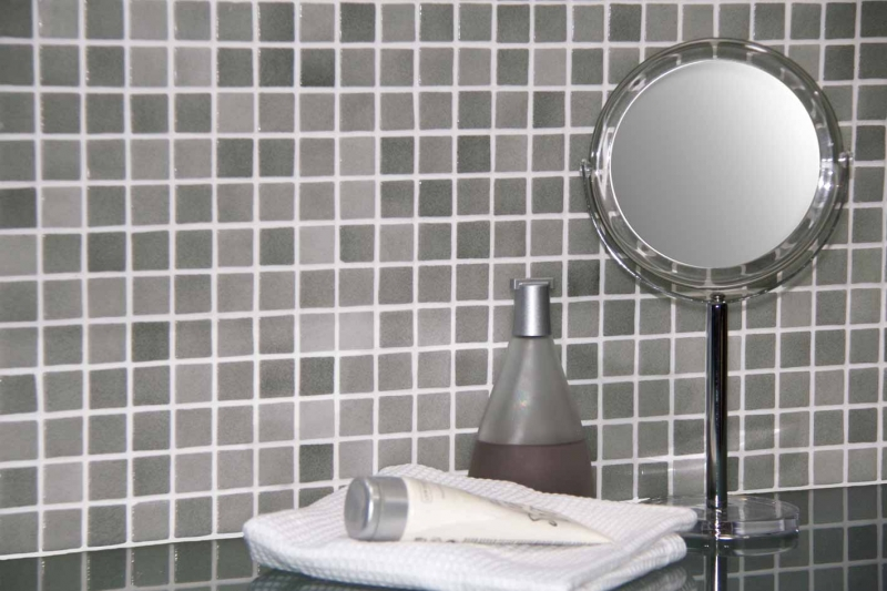 Antislip Mosaic Tiles 2.5x2.5cm Grey
