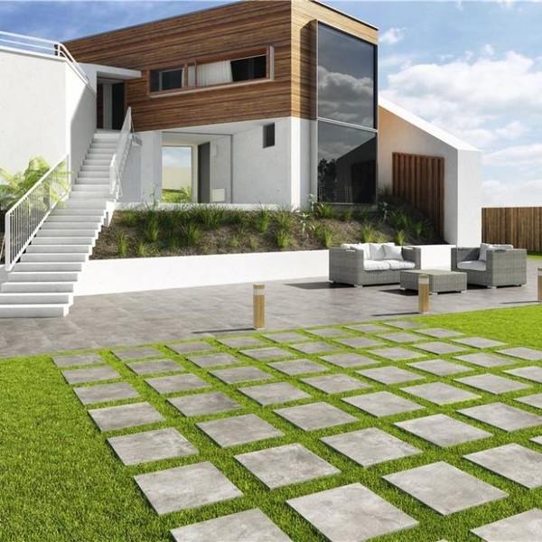 20mm Grey Porcelain Tiles for Outdoors