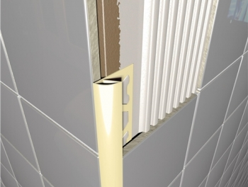 PVC Round Edge Tile Trim Cream
