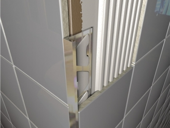 Bright Chrome Square Edged Tile Trim