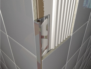 Brushed Chrome Square Edge Tile Trims