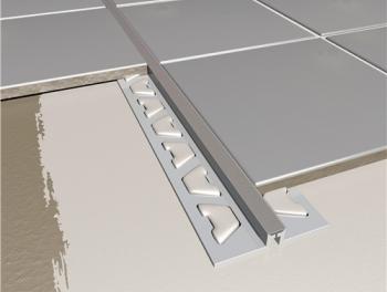 Tile Movement Joint PVC Grey