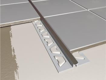 Tile Movement Joint PVC Black