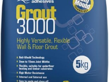 Highly Versatile Light Grey Flexible Wall and Floor Grout