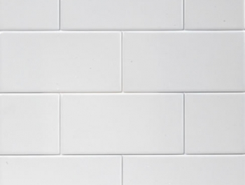 Flat Matt White Subway Tiles 10x20