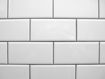 Flat White Subway Tiles Glossy 10x20