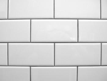 Flat White Subway Tiles Glossy 10x20