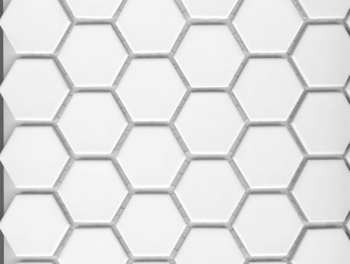 White Hexagon Mosaic 25mm
