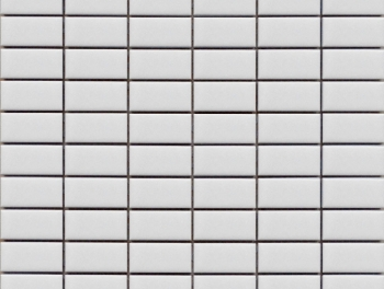 Matt White Rectangle Mosaic Tiles