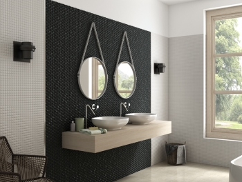 Grey Hexagon Mosaic 25mm