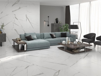 Large Format Calacatta White Marble Porcelain Tile 100x100