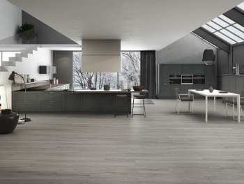 Grey Porcelain Wood Effect Tiles